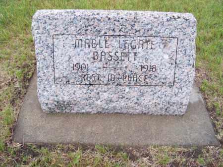 BASSETT, MABLE LEGATE - Brown County, Nebraska   MABLE LEGATE BASSETT - Nebraska Gravestone Photos