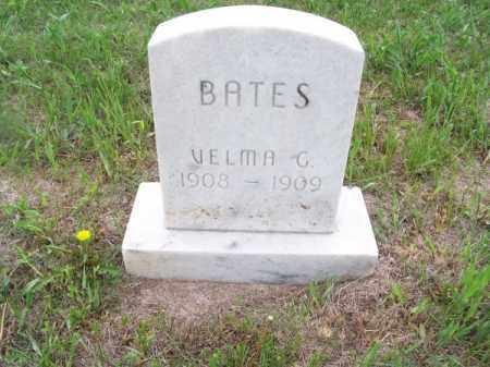 BATES, VELMA G. - Brown County, Nebraska   VELMA G. BATES - Nebraska Gravestone Photos