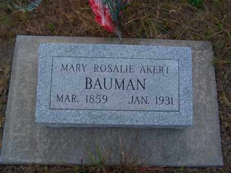 BAUMAN, MARY ROSALIE - Brown County, Nebraska | MARY ROSALIE BAUMAN - Nebraska Gravestone Photos