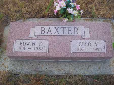 BAXTER, EDWIN F. - Brown County, Nebraska | EDWIN F. BAXTER - Nebraska Gravestone Photos