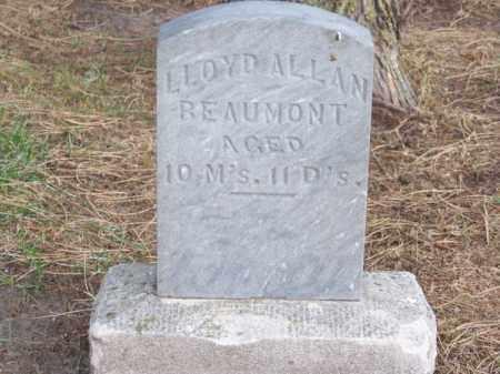 BEAUMONT, LLOYD ALLAN - Brown County, Nebraska   LLOYD ALLAN BEAUMONT - Nebraska Gravestone Photos