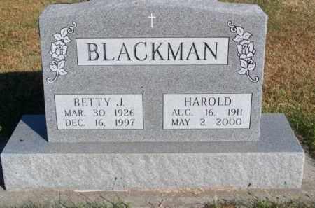 BLACKMAN, BETTY J. - Brown County, Nebraska | BETTY J. BLACKMAN - Nebraska Gravestone Photos