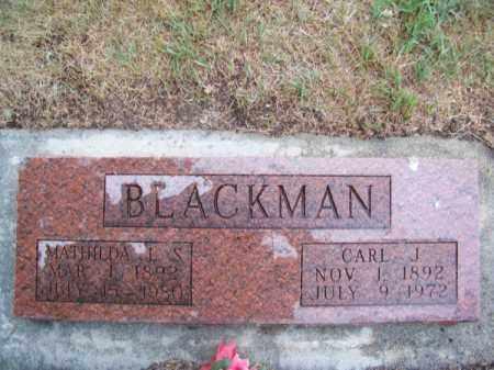 BLACKMAN, MATHILDA L. S. - Brown County, Nebraska | MATHILDA L. S. BLACKMAN - Nebraska Gravestone Photos