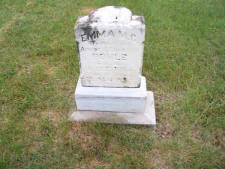 BOHLE, EMMA M. C. - Brown County, Nebraska   EMMA M. C. BOHLE - Nebraska Gravestone Photos