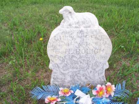 BOLICH, LILLY IRENE - Brown County, Nebraska | LILLY IRENE BOLICH - Nebraska Gravestone Photos