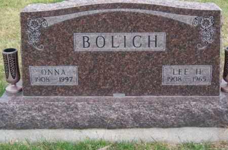 BOLICH, LEE H. - Brown County, Nebraska | LEE H. BOLICH - Nebraska Gravestone Photos