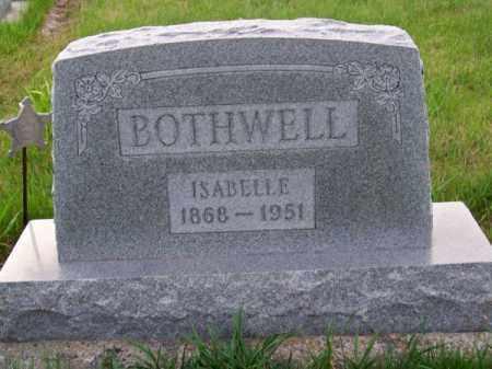 BOTHWELL, ISABELLE - Brown County, Nebraska | ISABELLE BOTHWELL - Nebraska Gravestone Photos