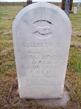 BOWERS, ELIZEBETH E. - Brown County, Nebraska   ELIZEBETH E. BOWERS - Nebraska Gravestone Photos