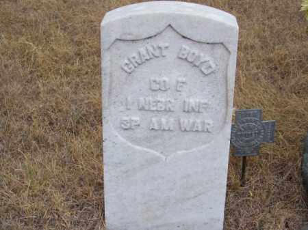 BOYD, GRANT - Brown County, Nebraska   GRANT BOYD - Nebraska Gravestone Photos