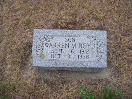 BOYD, WARREN M. - Brown County, Nebraska   WARREN M. BOYD - Nebraska Gravestone Photos