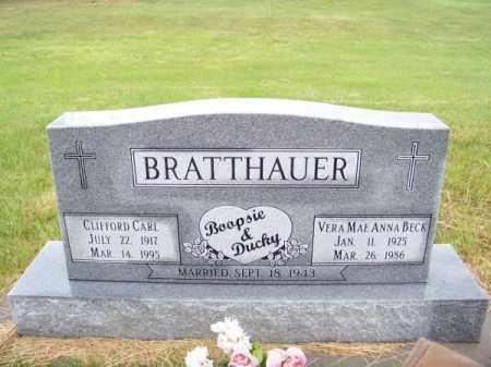 BECK BRATTHAUER, VERA MAE ANNA - Brown County, Nebraska | VERA MAE ANNA BECK BRATTHAUER - Nebraska Gravestone Photos