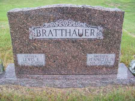 BRATTHAUER, JEANNETTE D. - Brown County, Nebraska | JEANNETTE D. BRATTHAUER - Nebraska Gravestone Photos