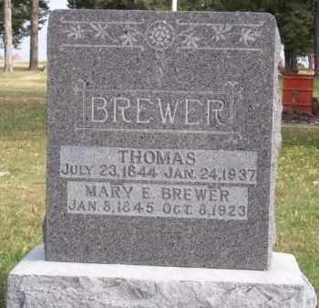 BREWER, MARY E. - Brown County, Nebraska | MARY E. BREWER - Nebraska Gravestone Photos
