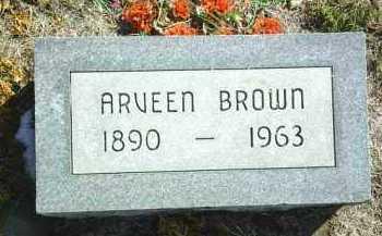 BROWN, ARVEEN - Brown County, Nebraska | ARVEEN BROWN - Nebraska Gravestone Photos