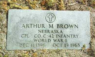 BROWN, ARTHUR - Brown County, Nebraska   ARTHUR BROWN - Nebraska Gravestone Photos