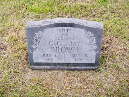 BROWN, CECIL RAY - Brown County, Nebraska | CECIL RAY BROWN - Nebraska Gravestone Photos