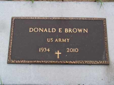 BROWN, DONALD E. - Brown County, Nebraska | DONALD E. BROWN - Nebraska Gravestone Photos