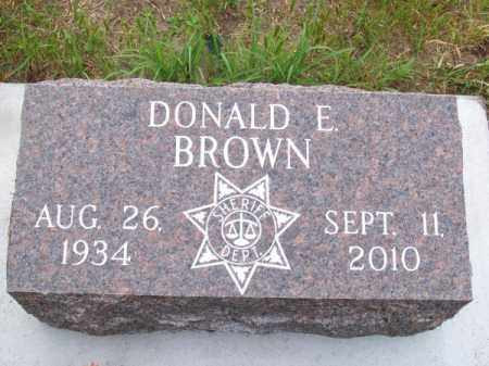 BROWN, DONALD E. - Brown County, Nebraska | DONALD E. BROWN - Nebraska Gravestone Photos