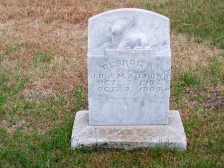 BROWN, GEORGE A. - Brown County, Nebraska | GEORGE A. BROWN - Nebraska Gravestone Photos