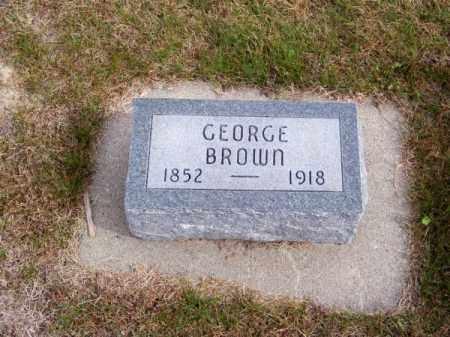 BROWN, GEORGE - Brown County, Nebraska | GEORGE BROWN - Nebraska Gravestone Photos