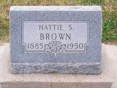 BROWN, HATTIE S. - Brown County, Nebraska   HATTIE S. BROWN - Nebraska Gravestone Photos