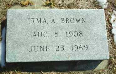 BROWN, IRMA - Brown County, Nebraska | IRMA BROWN - Nebraska Gravestone Photos