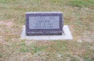 "BROWN, J. LYLE ""JUG"" - Brown County, Nebraska | J. LYLE ""JUG"" BROWN - Nebraska Gravestone Photos"
