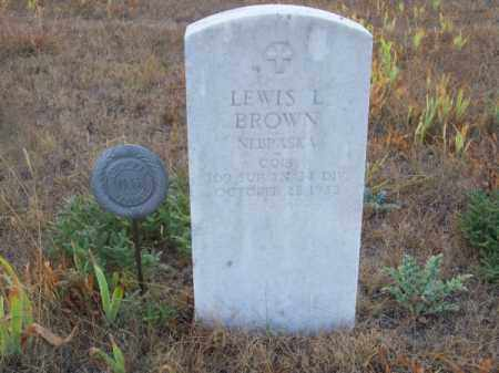 BROWN, LEWIS L. - Brown County, Nebraska | LEWIS L. BROWN - Nebraska Gravestone Photos