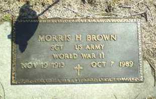 BROWN, MORRIS - Brown County, Nebraska   MORRIS BROWN - Nebraska Gravestone Photos