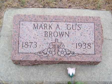"BROWN, MARK A. ""GUS"" - Brown County, Nebraska   MARK A. ""GUS"" BROWN - Nebraska Gravestone Photos"