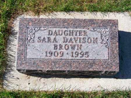 BROWN, SARA - Brown County, Nebraska | SARA BROWN - Nebraska Gravestone Photos