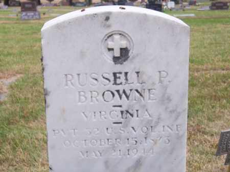 BROWNE, RUSSELL P. - Brown County, Nebraska | RUSSELL P. BROWNE - Nebraska Gravestone Photos