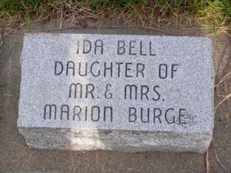 BURGE, IDA BELL - Brown County, Nebraska | IDA BELL BURGE - Nebraska Gravestone Photos