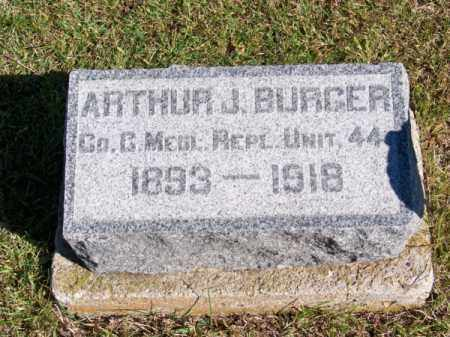 BURGER, ARTHUR J. - Brown County, Nebraska | ARTHUR J. BURGER - Nebraska Gravestone Photos