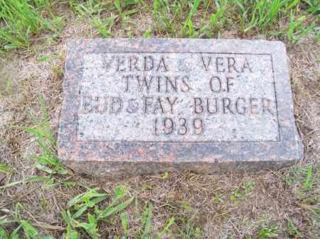 BURGER, VERA - Brown County, Nebraska | VERA BURGER - Nebraska Gravestone Photos