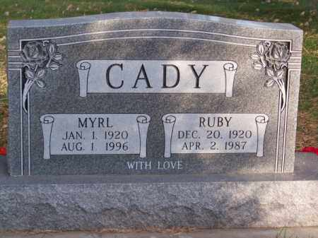CADY, RUBY - Brown County, Nebraska | RUBY CADY - Nebraska Gravestone Photos