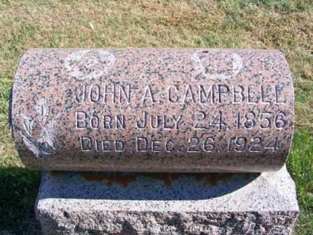 CAMPBELL, JOHN A. - Brown County, Nebraska | JOHN A. CAMPBELL - Nebraska Gravestone Photos