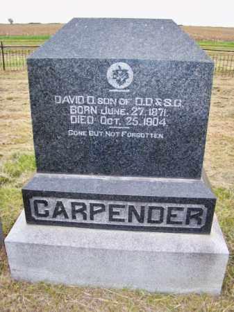CARPENDER, DAVID D. - Brown County, Nebraska | DAVID D. CARPENDER - Nebraska Gravestone Photos