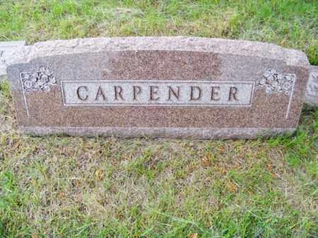 CARPENDER, FAMILY - Brown County, Nebraska   FAMILY CARPENDER - Nebraska Gravestone Photos