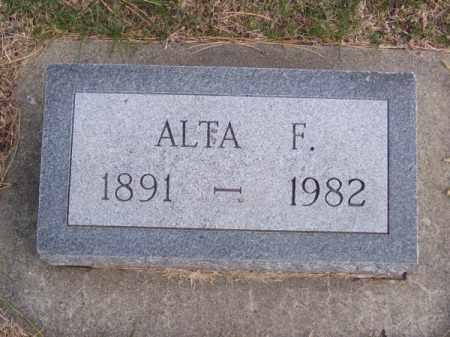 COLEMAN, ALTA F. - Brown County, Nebraska | ALTA F. COLEMAN - Nebraska Gravestone Photos