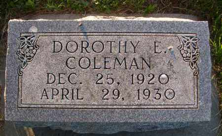 COLEMAN, DOROTHY E. - Brown County, Nebraska   DOROTHY E. COLEMAN - Nebraska Gravestone Photos