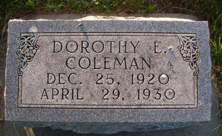 COLEMAN, DOROTHY E. - Brown County, Nebraska | DOROTHY E. COLEMAN - Nebraska Gravestone Photos