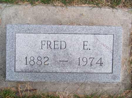 COLEMAN, FRED E. - Brown County, Nebraska | FRED E. COLEMAN - Nebraska Gravestone Photos