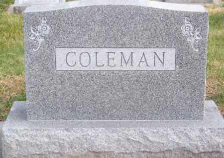 COLEMAN, FAMILY - Brown County, Nebraska   FAMILY COLEMAN - Nebraska Gravestone Photos