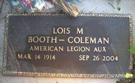 BOOTH-COLEMAN, LOIS M. - Brown County, Nebraska | LOIS M. BOOTH-COLEMAN - Nebraska Gravestone Photos