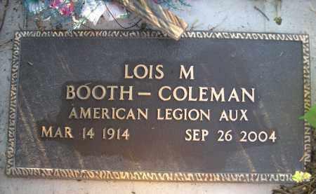 BOOTH-COLEMAN, LOIS M. - Brown County, Nebraska | LOIS M. BOOTH-COLEMAN - Nebraska Gravestone Photos