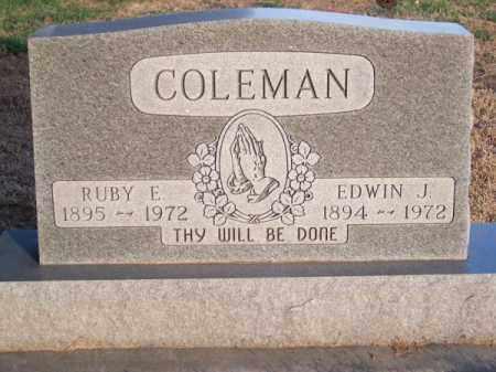COLEMAN, EDWIN J. - Brown County, Nebraska | EDWIN J. COLEMAN - Nebraska Gravestone Photos