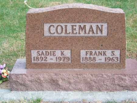 COLEMAN, FRANK S. - Brown County, Nebraska | FRANK S. COLEMAN - Nebraska Gravestone Photos