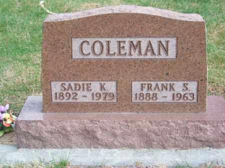 COLEMAN, SADIE K. - Brown County, Nebraska | SADIE K. COLEMAN - Nebraska Gravestone Photos