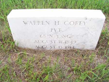 COREY, WARREN H. - Brown County, Nebraska | WARREN H. COREY - Nebraska Gravestone Photos